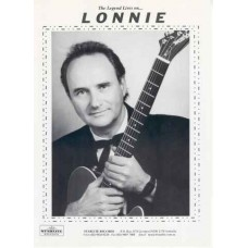 Lonnie Lee with guitar 2000 on card