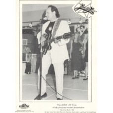 Lonnie Lee 1992 - singing at show on gloss paper