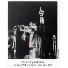 Wayne Jackson - B&W photo on Robert Clay Show